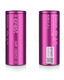 Efest IMR 26650 5000mah 45A Rechargeable Vape Battery
