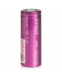 Efest IMR 18500 (1000mah, 15A) Rechargeable Vape Battery