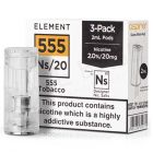 NS20 555 Tobacco E-Liquid Pod by Element 3x2ml